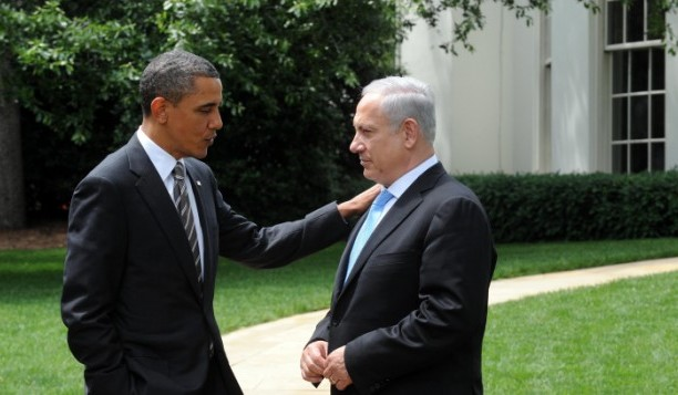 Obama and Netanyahu in Rose Garden